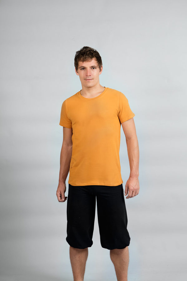 Yoga T-shirt for men organic cotton breath of fire yogafashion